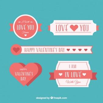 Pretty retro valentijn stickers te pakken