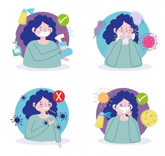 Preventiemaatregelen covid 19 worden niet ziek en verspreiden geen virus