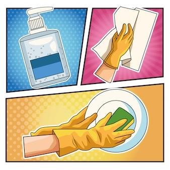 Preventiemethoden covid19 pandemieën iconen