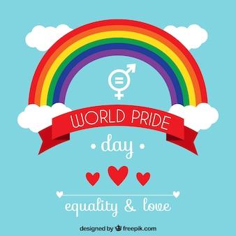 Pride dag achtergrond met regenboog