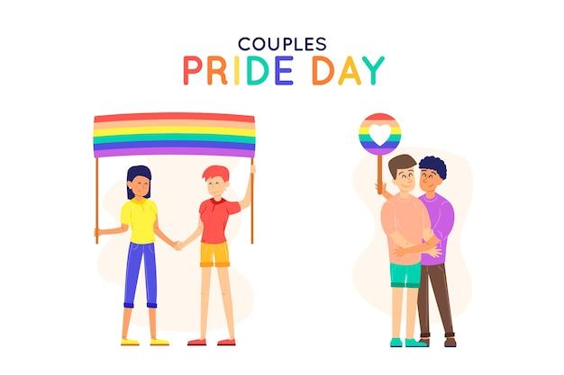 Pride dag mensen samen