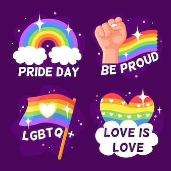 Pride day badges collectie