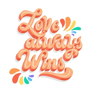 Pride day belettering achtergrond