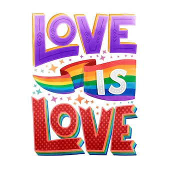 Pride day belettering concept