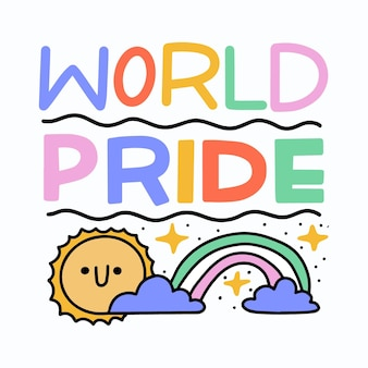 Pride day belettering ontwerp