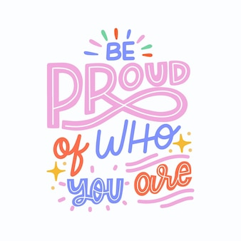 Pride day belettering