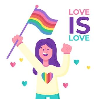 Pride day concept geïllustreerd