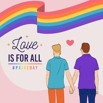 Pride day concept mannen hand in hand