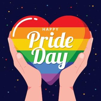 Pride day concept met hart
