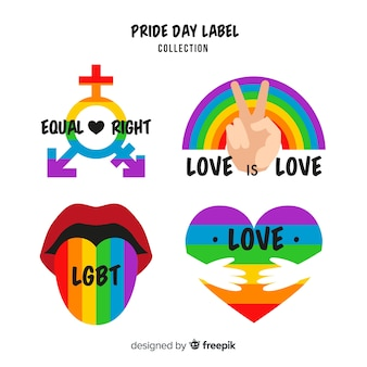 Pride day labels-collectie