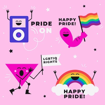 Pride day labels instellen