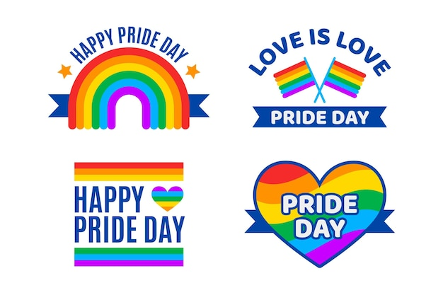 Pride day labels pack
