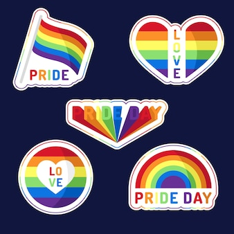Pride day labels stijl