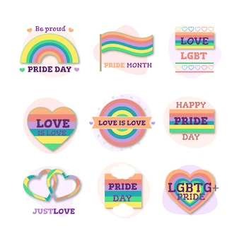 Pride day lables collectie concept