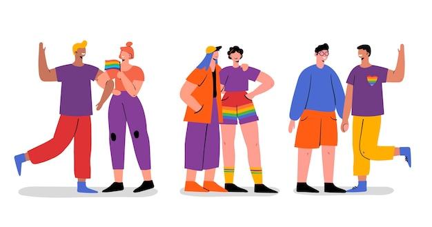Pride day mensen collectie