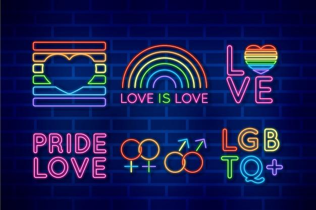 Pride day neon borden thema