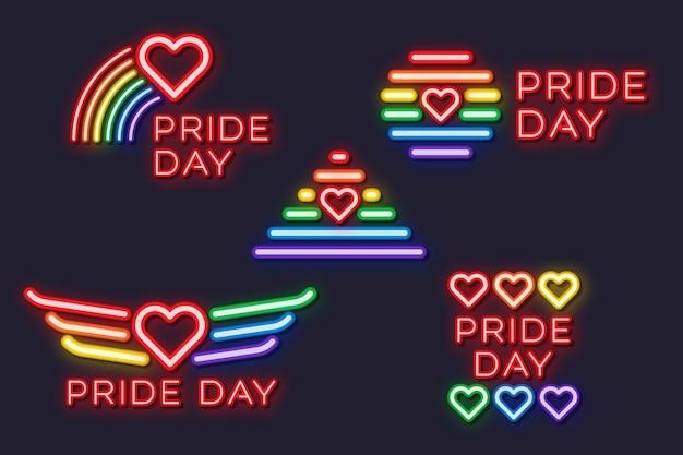 Pride day neon tekenen ontwerp