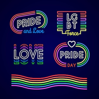 Pride day neonreclames collectie