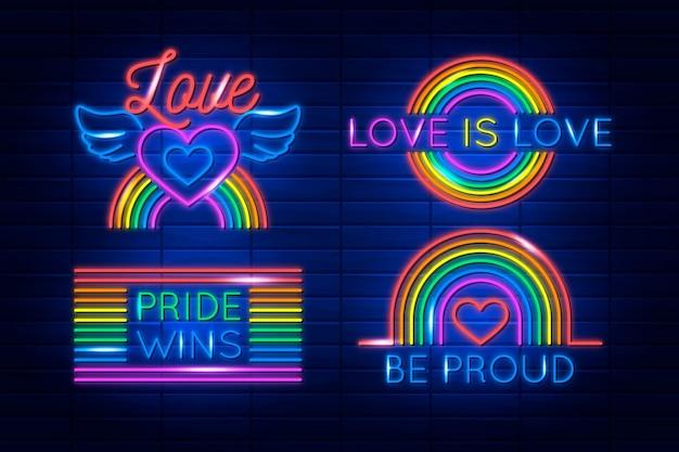 Pride day neonreclames collectie