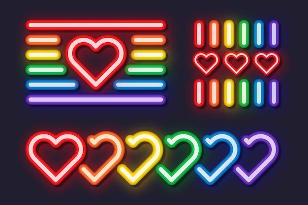 Pride day neonreclames concept