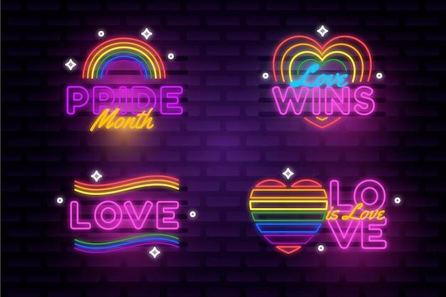 Pride day neonreclames instellen