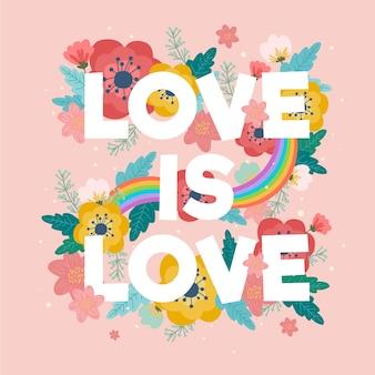 Pride day positieve belettering stijl