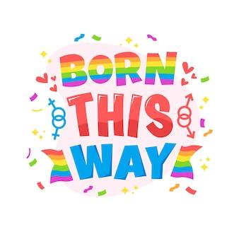 Pride day positieve belettering