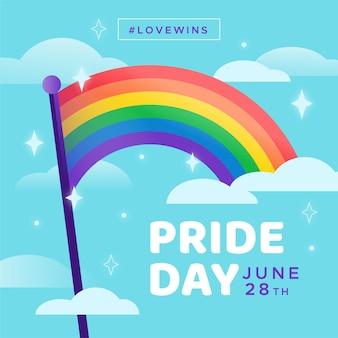 Pride day regenboogvlag stijl