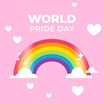Pride day regenboogvlag