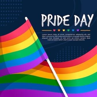 Pride day vlag concept Gratis Vector