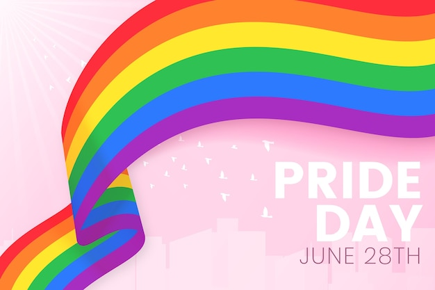 Pride day vlag lint achtergrond