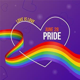 Pride day vlag vieren evenement