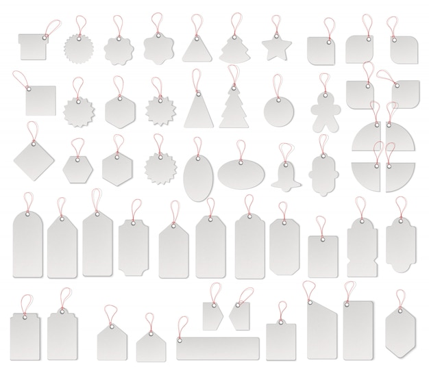 Prijs of verkoop tags en labels vector sjabloon set