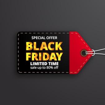Prijskaartje label prijs kortingslabel voor zwarte vrijdag verkoopaanbieding sjabloon voor kledingmode