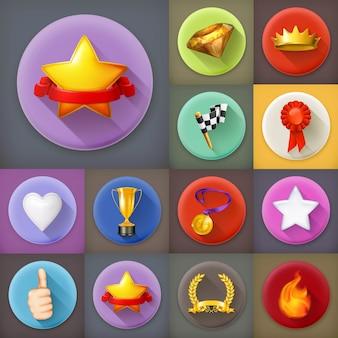 Prijzen en prestatie-iconen