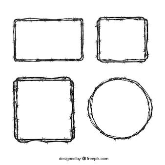 Prikkeldraad frame collectie