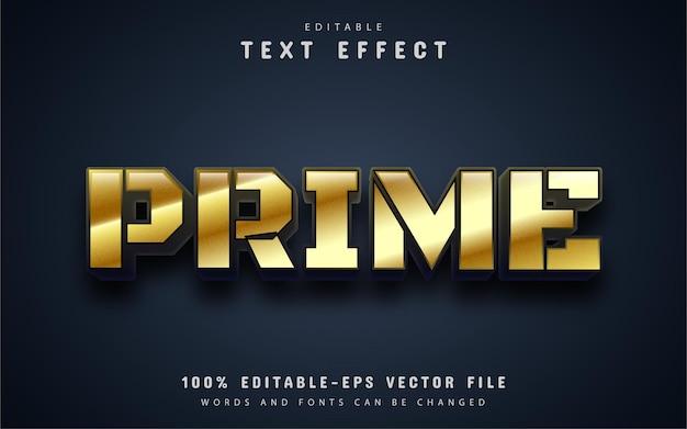 Prime-tekst, teksteffect in gouden stijl