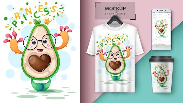 Princes-avocado-affiche en merchandising