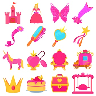 Princess accessoires pictogrammen instellen