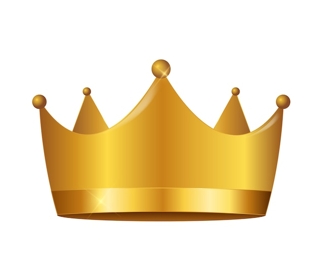 Princess crown icon in plat ontwerp