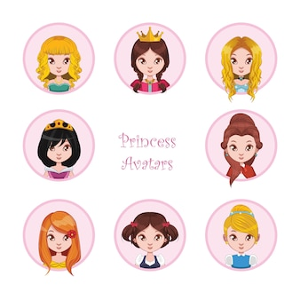 Prinses avatars collectie