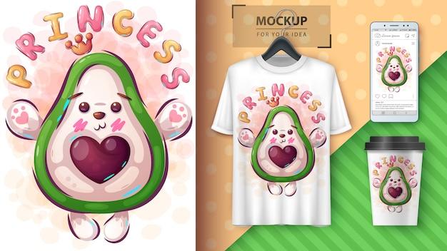 Prinses avocado poster en merchandising