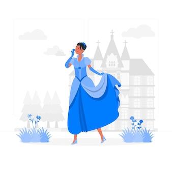 Prinses concept illustratie