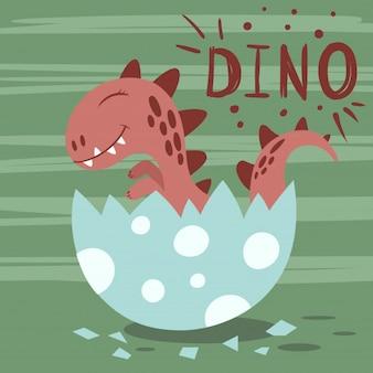 Prinses-dino in het ei.