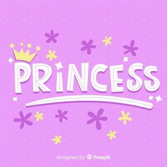 Prinses kalligrafische achtergrond