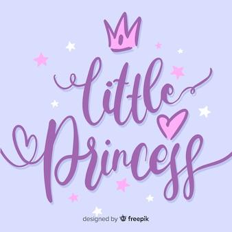 Prinses kalligrafische hand getrokken achtergrond