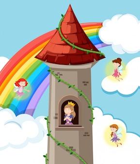 Prinses op het kasteel