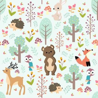 Print baby dieren patroon