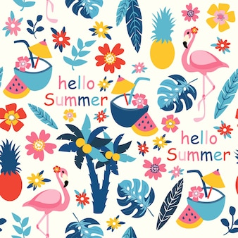 Print hallo zomer