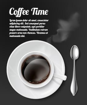 Print met realistische koffiekop